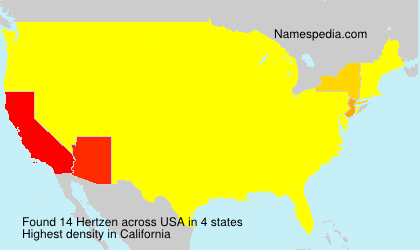 Familiennamen Hertzen - USA