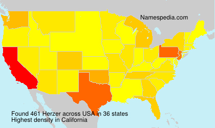 Surname Herzer in USA