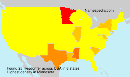 Surname Hesdorffer in USA