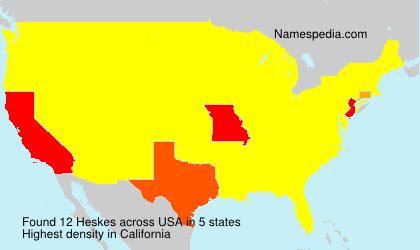 Familiennamen Heskes - USA