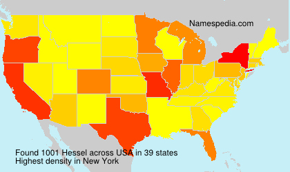Surname Hessel in USA