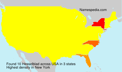 Surname Hesselblad in USA