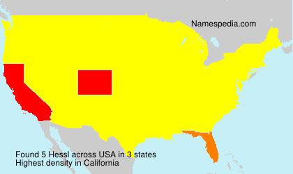 Surname Hessl in USA