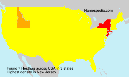 Surname Hesthag in USA