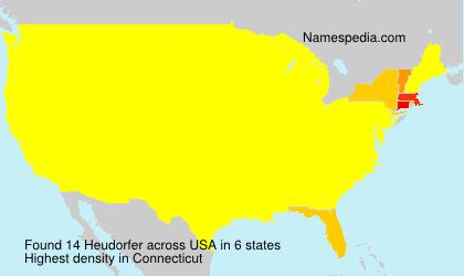 Surname Heudorfer in USA