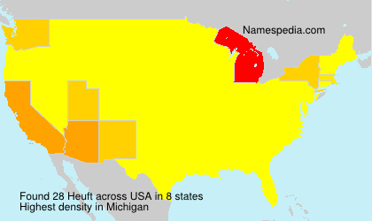 Surname Heuft in USA