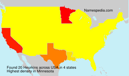 Surname Heurkins in USA