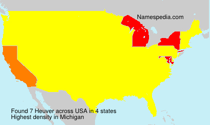 Surname Heuver in USA