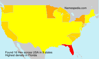Surname Hev in USA