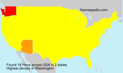 Surname Heva in USA