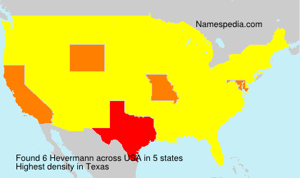 Surname Hevermann in USA