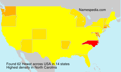 Surname Hewat in USA