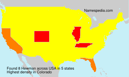 Surname Hewman in USA