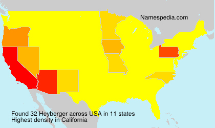 Surname Heyberger in USA
