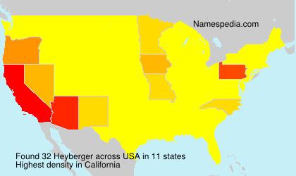 Surname Heyberger in USA