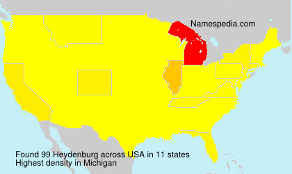 Surname Heydenburg in USA