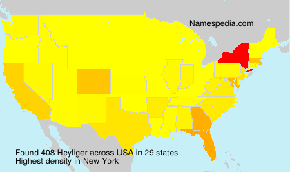 Surname Heyliger in USA