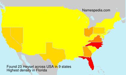 Familiennamen Heysel - USA