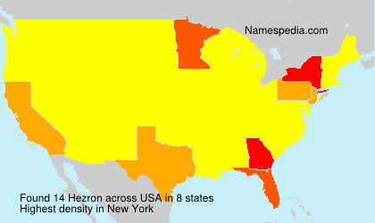 Surname Hezron in USA