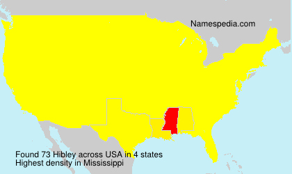 Surname Hibley in USA
