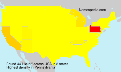 Surname Hickoff in USA