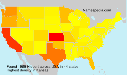 Surname Hiebert in USA