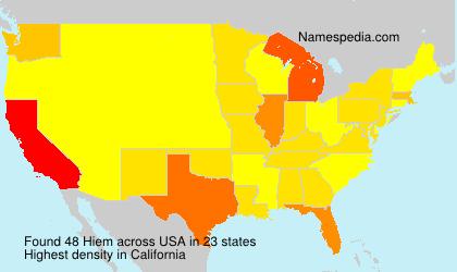Surname Hiem in USA