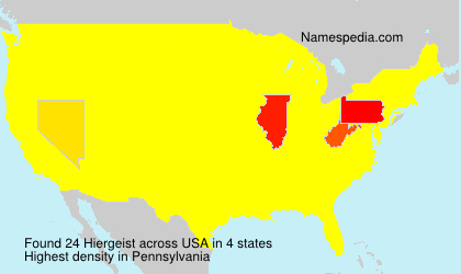 Surname Hiergeist in USA