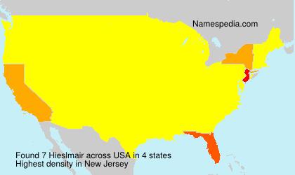 Familiennamen Hieslmair - USA