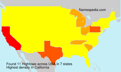 Surname Hightowe in USA