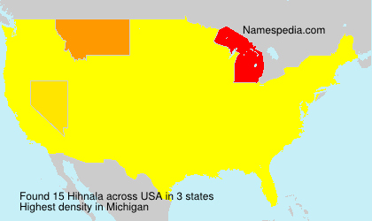 Surname Hihnala in USA