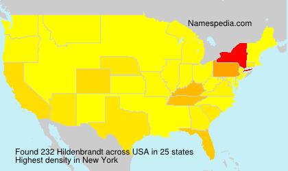 Surname Hildenbrandt in USA