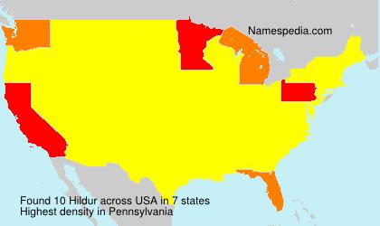 Familiennamen Hildur - USA