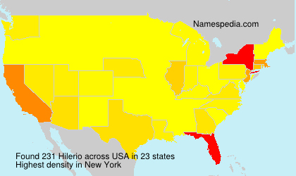Surname Hilerio in USA