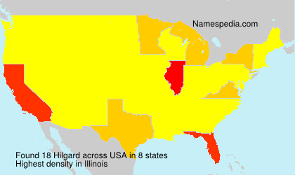 Surname Hilgard in USA