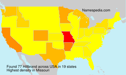 Surname Hillbrand in USA