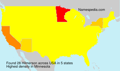 Surname Hilmerson in USA