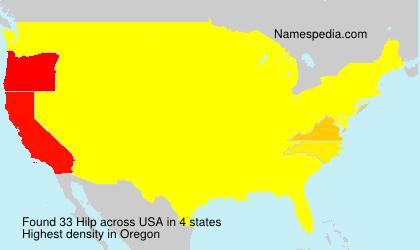 Familiennamen Hilp - USA