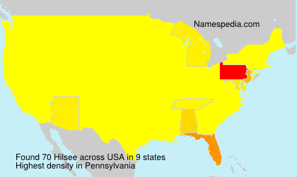 Surname Hilsee in USA