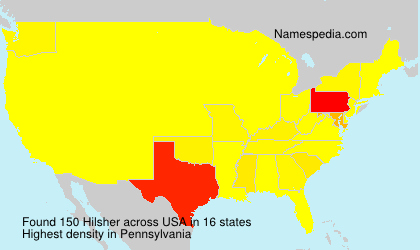 Surname Hilsher in USA