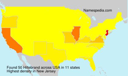 Surname Hiltebrand in USA