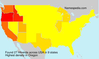 Surname Hilverda in USA