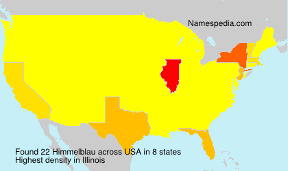 Surname Himmelblau in USA