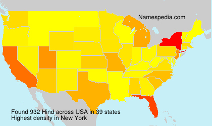 Surname Hind in USA