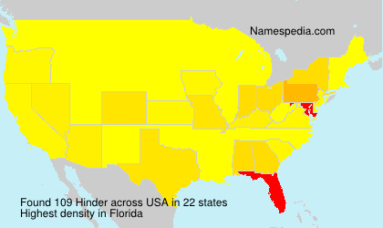 Surname Hinder in USA