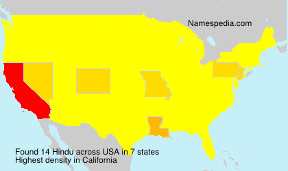 Surname Hindu in USA