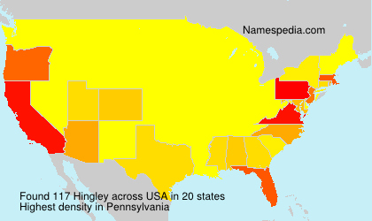 Surname Hingley in USA