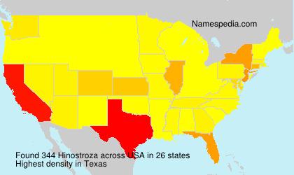 Familiennamen Hinostroza - USA