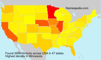 Surname Hinrichs in USA