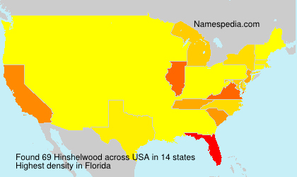 Surname Hinshelwood in USA